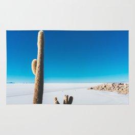 Cactus on Isla Incahuasi, Salt Flats, Bolivia Rug