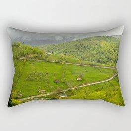 Green late summer. Rectangular Pillow