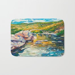 Bridge in the mountains Bath Mat