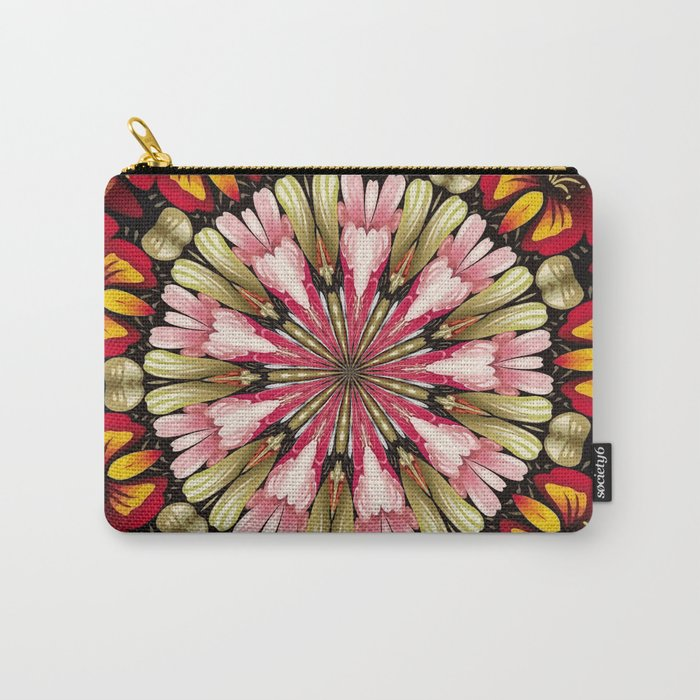 Botanical Dreams Mandala Carry-All Pouch