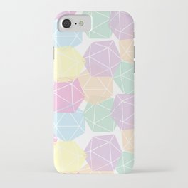 Pastel D20 Pattern Dungeons and Dragons Dice Set iPhone Case