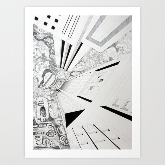The thoughtful sky Art Print