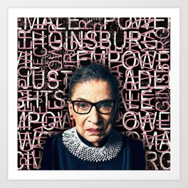Ruth Bader Ginsburg 2 Art Print