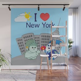 Ernest and Coraline | I love New York Wall Mural