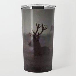 Silhouette Of A Highland Stag Travel Mug