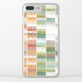 Lily pattern Clear iPhone Case