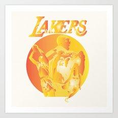 Lakers Art Print