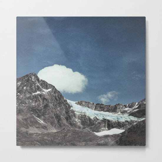 mountains and ice Metal Print
