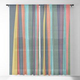 Mid-century zebra Sheer Curtain