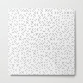 Geo Worms Metal Print
