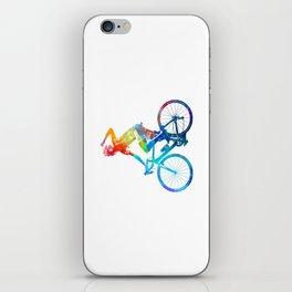 Woman triathlon cycling 03 iPhone Skin