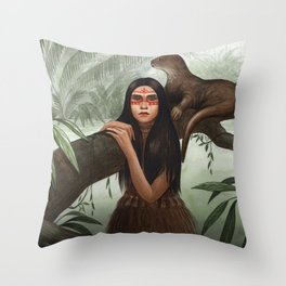 Rimaq ~ A Compendium of Witches Throw Pillow