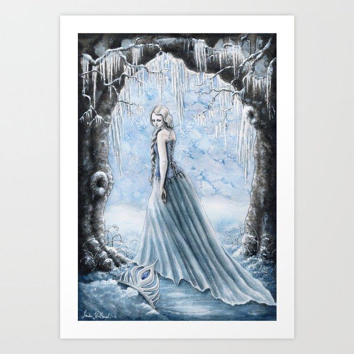 I can not escape my winter storm. Art Print