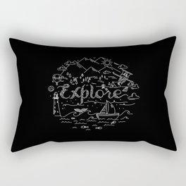 Explore(Black) Rectangular Pillow