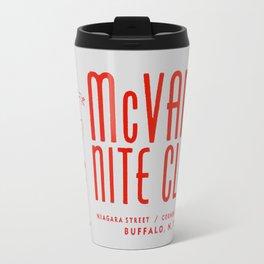 McVan's Nite Club in Red Travel Mug