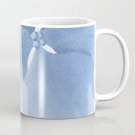 Pansy Flower. Big blue flower Coffee Mug
