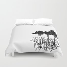 Dark Iris Duvet Cover