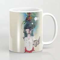 polka Mugs featuring Polka by geline_illustration