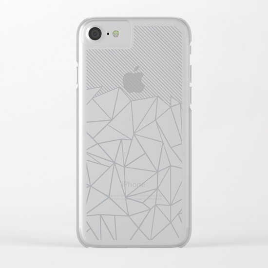 Ab Linear Grey Clear iPhone Case