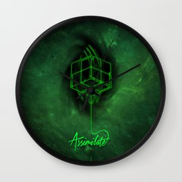 Assimilate Line Wall Clock