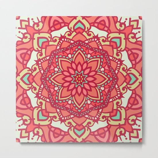 Abstract Mandala Flower Decoration 16 Metal Print