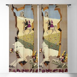 Visit Sardinia vintage Italian travel ad Blackout Curtain