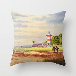 Harbor Town Golf Course 18th Hole South Carolina Throw Pillow