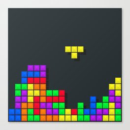 Tetris print design Canvas Print