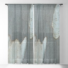 Eucalyptus Tree Bark and Wood Abstract Natural Texture 33 Sheer Curtain