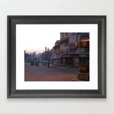 An Indian Morning in Mysore (India & Travel) Framed Art Print