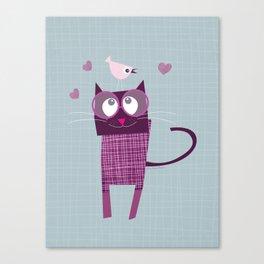 Birdy Cat Canvas Print