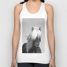 Portrait of a Horse in Scotish Highlands Unisex Tank Top