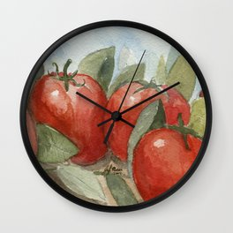 Out In the Garden Wall Clock