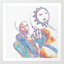 Two-faced Fashion Rubber Art Print