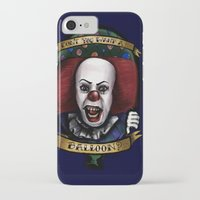 """pennywise iPhone & iPod Cases featuring """"Don't you want a ballon?"""" by Gabriela Ash Illustrations"""