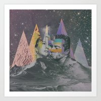 cosmic cuddle Art Print