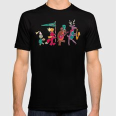 animal marching band Mens Fitted Tee MEDIUM Black