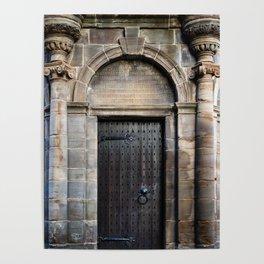 Edinburgh Mercat Cross Door Poster