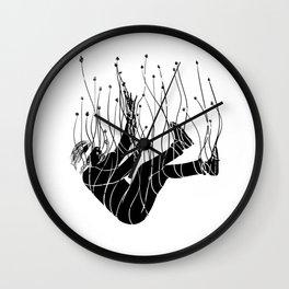 Blind Blooming Wall Clock