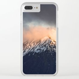 Steamy Mountain Clear iPhone Case