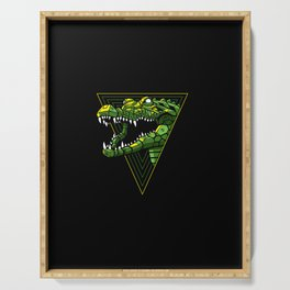 Cyber Crocodile Punk Serving Tray