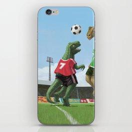 cartoon dinosaurs playing football iPhone Skin