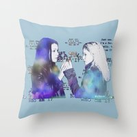 orphan black Throw Pillows featuring Orphan Black, Who Am I? by Your Friend Elle