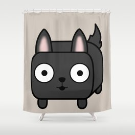 German Shepherd Loaf in Black Shower Curtain