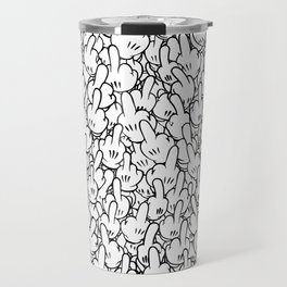Middle fingers of Mickey Mouse Travel Mug