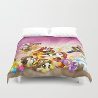 mlp Duvet Covers featuring MLP X-Women by Kimball Gray