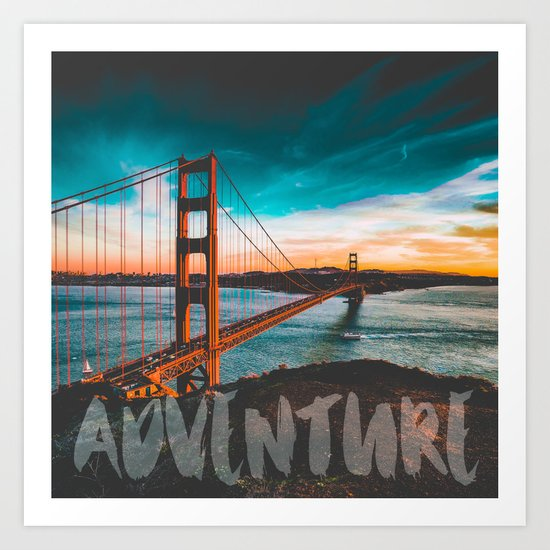 ADVENTURE San Francisco Art Print