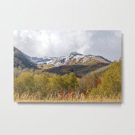 Wasatch Mountains Utah, David Millenheft Art Collection, Autumn, Winter, Snow, Colors, Horizontal,Home Decor, Metal Print