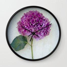 One Hydrangea II Wall Clock
