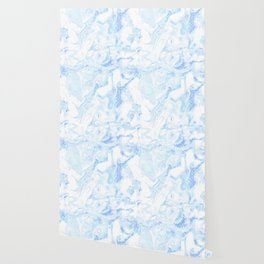 White Marble with Pastel Blue Purple Teal Glitter Wallpaper